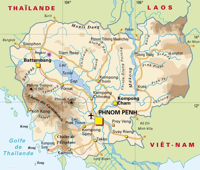 cartina Cambogia